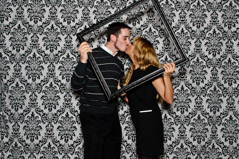 wedding-photobooth-kissing Nashville Wedding Photo Booth | Amanda + Justin