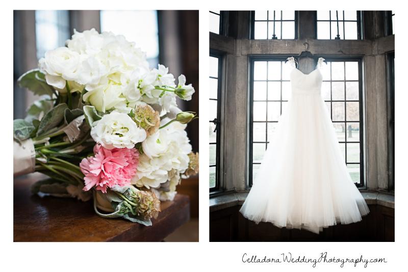 bouquet-and-dress Laura and Kevin Nashville Wedding at Scarritt Bennett