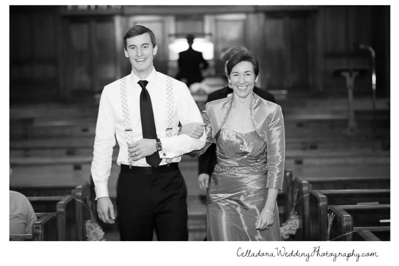 groom-escorting-mother-800x534 Laura and Kevin Nashville Wedding at Scarritt Bennett