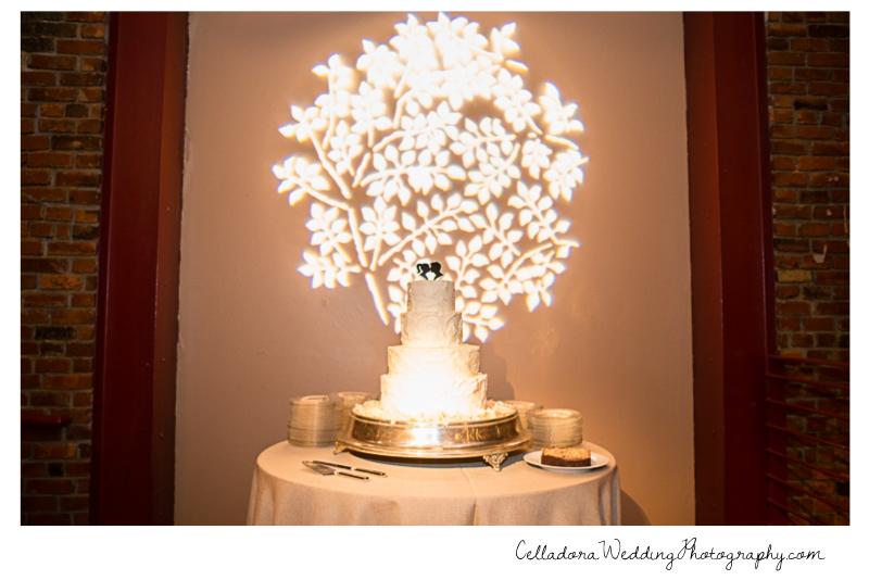 wedding-cake-table Laura and Kevin Nashville Wedding at Scarritt Bennett