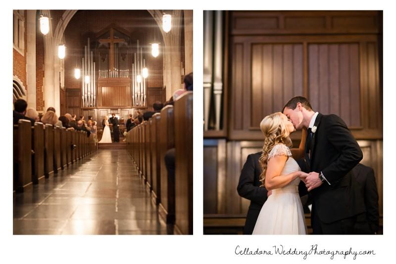 wedding-first-kiss-800x534 Laura and Kevin Nashville Wedding at Scarritt Bennett