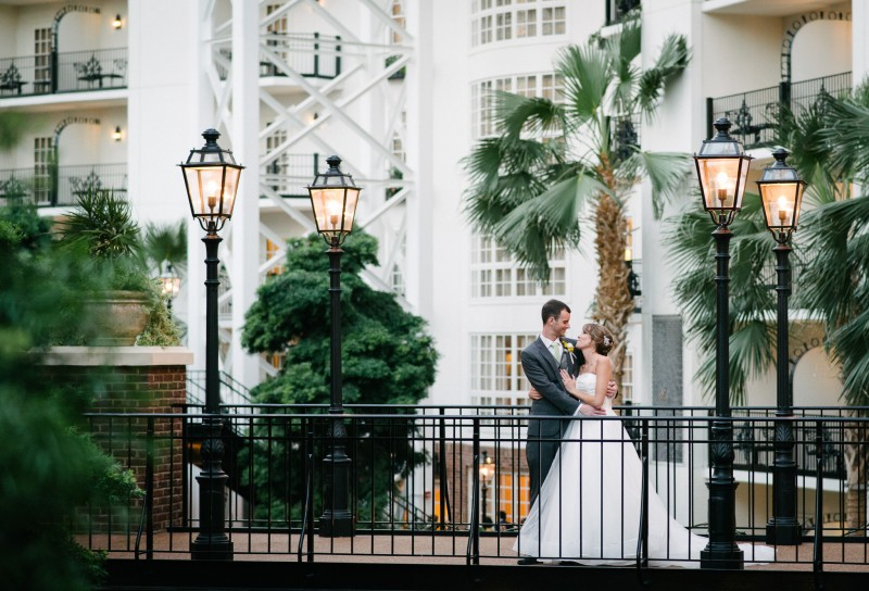 Bride and Groom at Gaylord Opryland