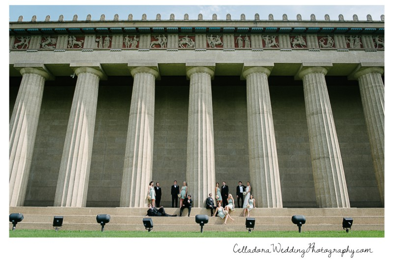 bridal-party-at-parthenon-nashville-800x534 John + Lindsay Downtown Nashville Wedding