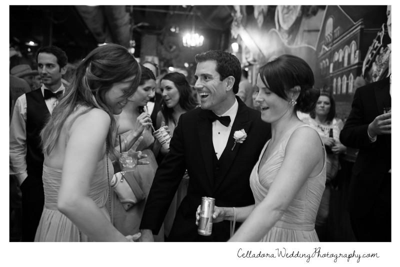 bridal-party-dancing-at-thestage-800x534 John + Lindsay Downtown Nashville Wedding