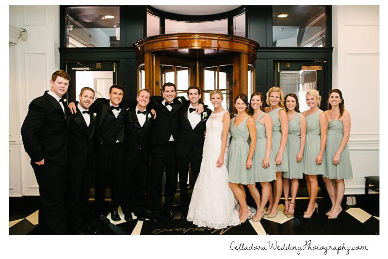 bridal-party-smiling John + Lindsay Downtown Nashville Wedding