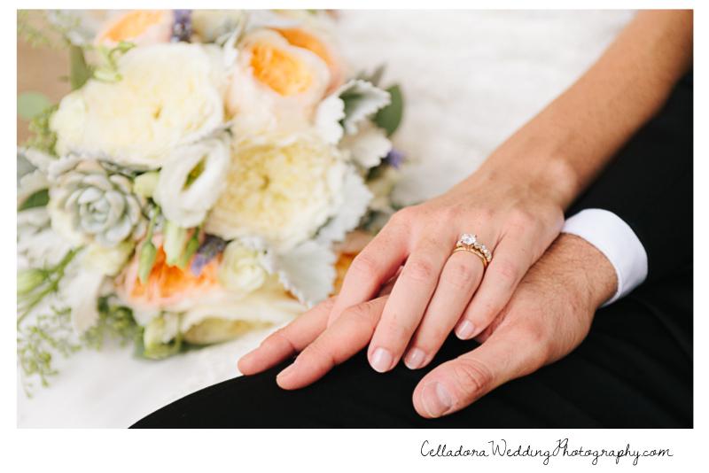 bride-and-groom-hands-ring John + Lindsay Downtown Nashville Wedding