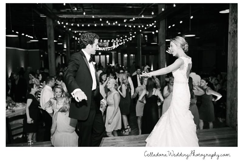 bride-and-groom-having-fun John + Lindsay Downtown Nashville Wedding