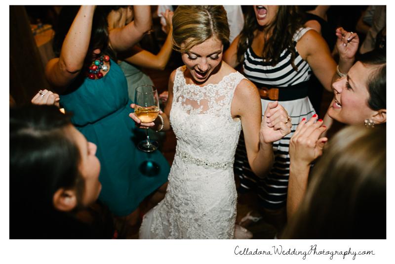 bride-dancing-with-wine John + Lindsay Downtown Nashville Wedding