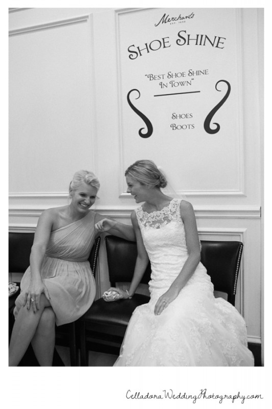 bride-laughing-with-bridesmaid-533x800 John + Lindsay Downtown Nashville Wedding