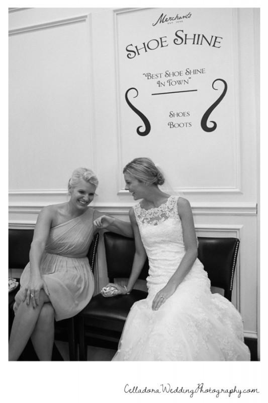 bride-laughing-with-bridesmaid-533x800 John + Lindsay Downtown Nashville Wedding