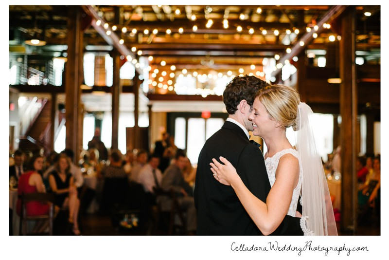 bride-smiling-first-dance-800x534 John + Lindsay Downtown Nashville Wedding
