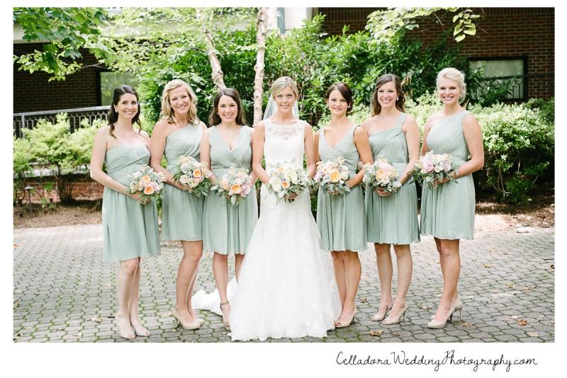 bride-with-bridesmaids-800x534 John + Lindsay Downtown Nashville Wedding