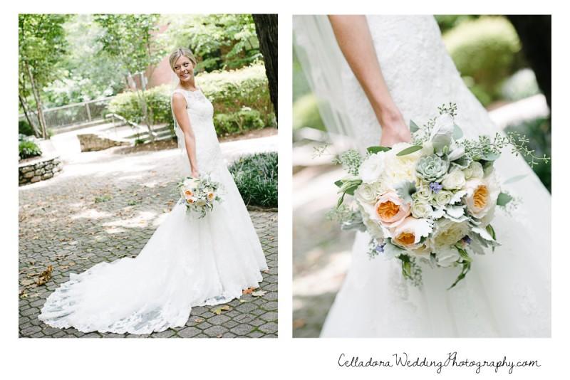 bride-with-flowers-800x534 John + Lindsay Downtown Nashville Wedding