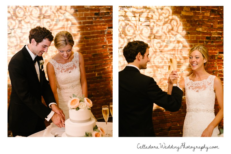 cake-cutting-and-toast-800x534 John + Lindsay Downtown Nashville Wedding
