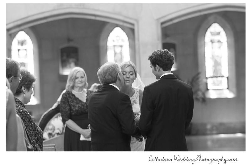 father-kissing-bride-on-cheek-800x534 John + Lindsay Downtown Nashville Wedding
