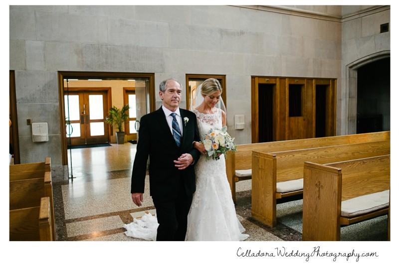 father-walking-bride-down-aisle-800x534 John + Lindsay Downtown Nashville Wedding