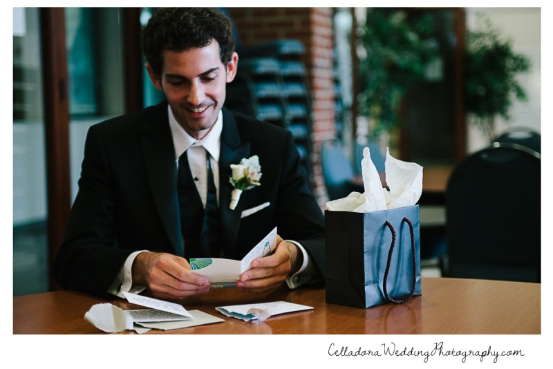 groom-opening-gift-800x534 John + Lindsay Downtown Nashville Wedding
