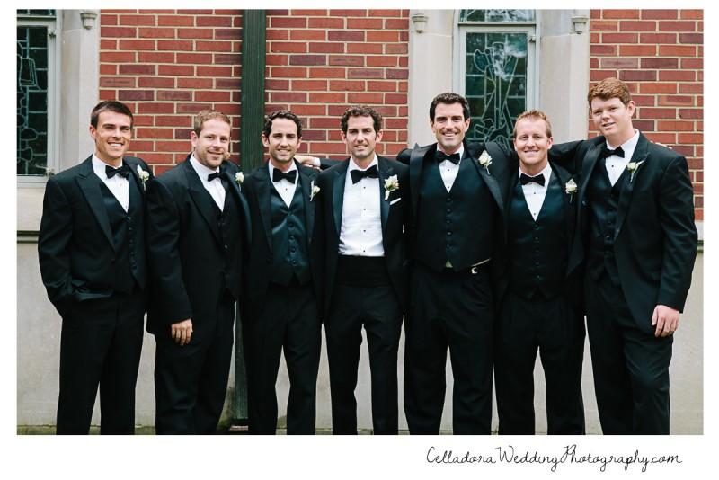 groom-with-groomsmen-800x534 John + Lindsay Downtown Nashville Wedding