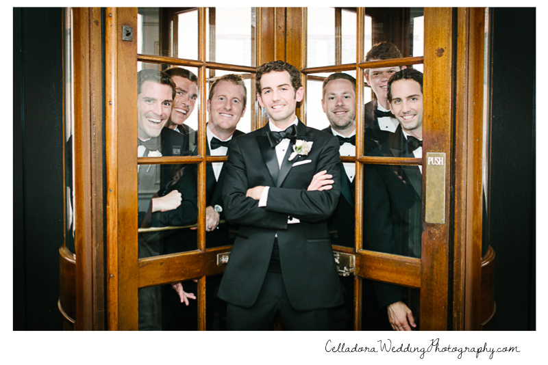 groomsmen-trapped John + Lindsay Downtown Nashville Wedding