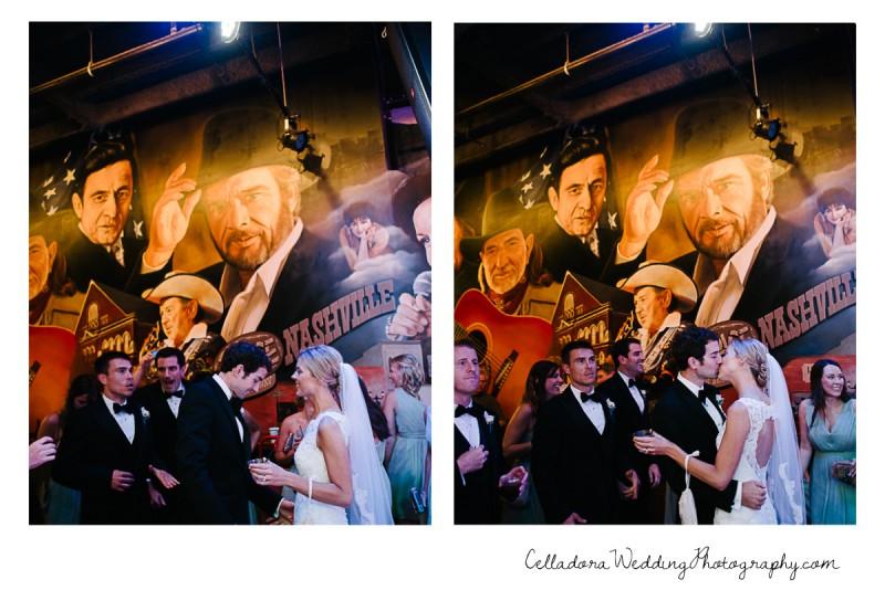 nashville-kiss-wedding-800x534 John + Lindsay Downtown Nashville Wedding