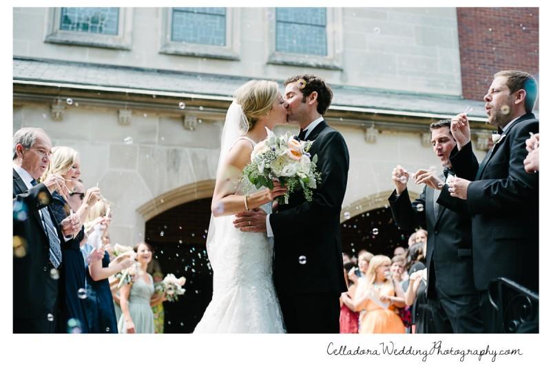 wedding-bubble-exit-kiss-800x534 John + Lindsay Downtown Nashville Wedding