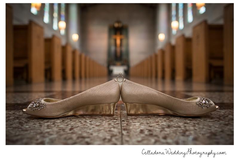 wedding-shoes-and-ring-in-church-800x534 John + Lindsay Downtown Nashville Wedding