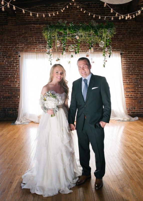 bride-and-groom-nashville-571x800 One Cannery Ballroom Nashville 4th of July Wedding | Brian and Jenna