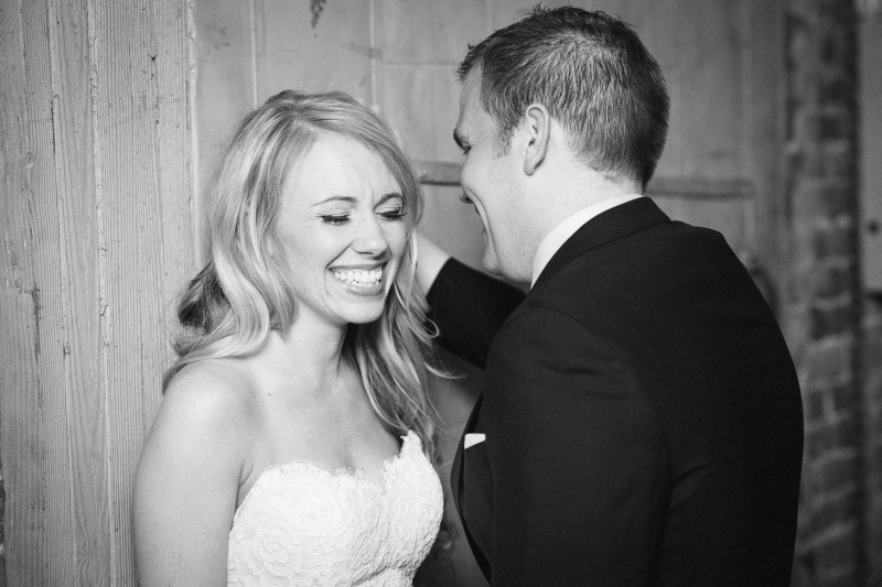 bride-laughing-800x533 One Cannery Ballroom Nashville 4th of July Wedding | Brian and Jenna