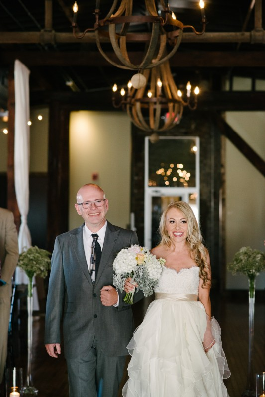 bride-walking-down-aisle-533x800 One Cannery Ballroom Nashville 4th of July Wedding | Brian and Jenna