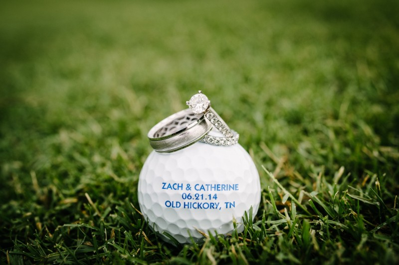 custom-golf-ball-wedding-date-800x533 Catherine and Zach Hermitage, TN Outdoor Wedding