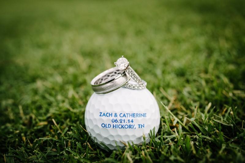 custom-golf-ball-wedding-date-800x533 Catherine and Zach Hermitage, TN Outdoor Wedding