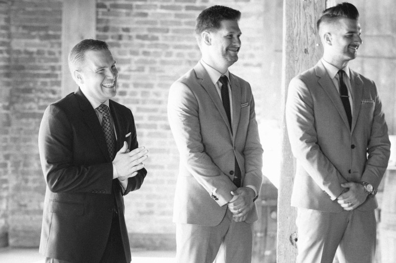 groom-seeing-bride-for-first-time-800x533 One Cannery Ballroom Nashville 4th of July Wedding | Brian and Jenna
