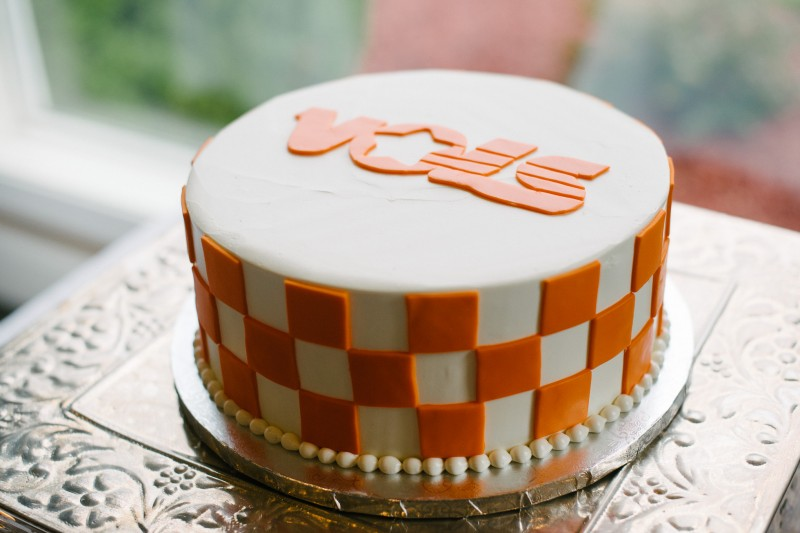 tn-vols-grooms-cake-800x533 Catherine and Zach Hermitage, TN Outdoor Wedding
