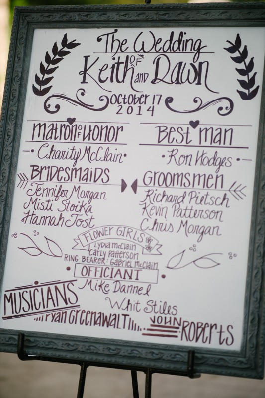 beautiful-handwritten-sign1-533x800 Opryland Hotel Wedding in Nashville, TN - Dawn + Keith
