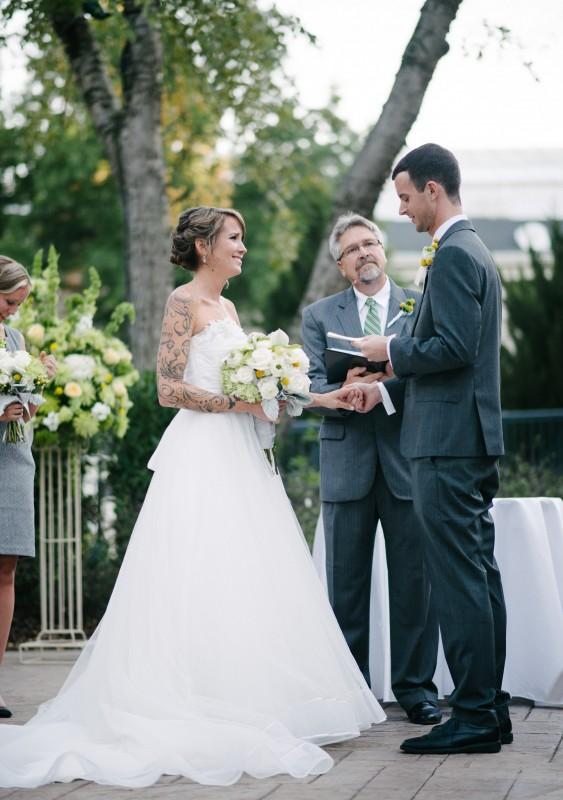 bride-and-groom-vows1-563x800 Opryland Hotel Wedding in Nashville, TN - Dawn + Keith