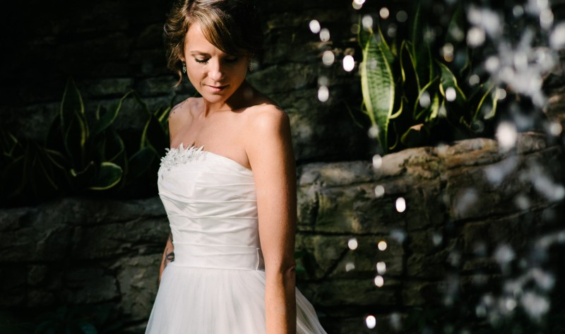 bride-under-waterfall1-800x473 Opryland Hotel Wedding in Nashville, TN - Dawn + Keith