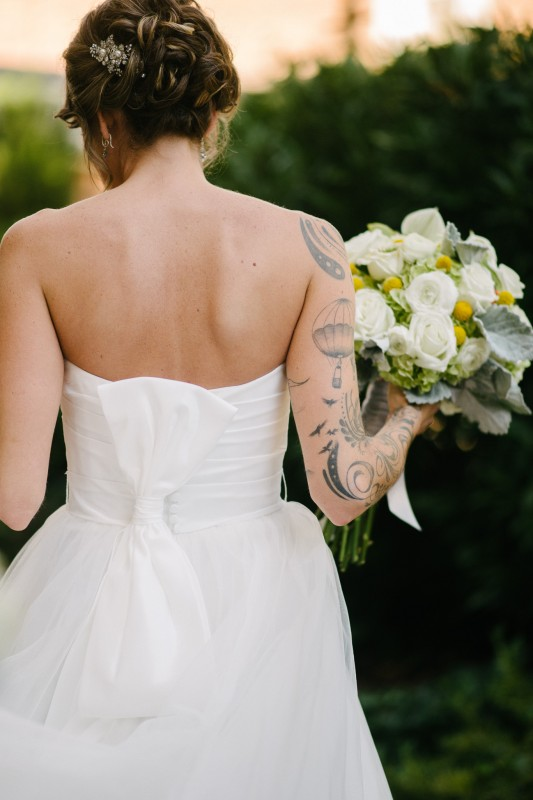 bride-with-tattoos1-533x800 Opryland Hotel Wedding in Nashville, TN - Dawn + Keith