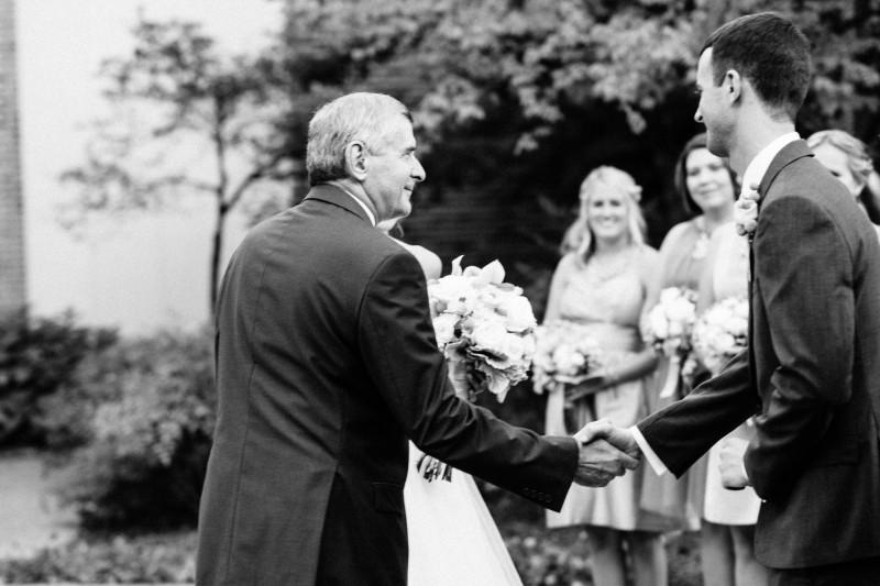 father-shaking-grooms-hand-wedding1-800x533 Opryland Hotel Wedding in Nashville, TN - Dawn + Keith