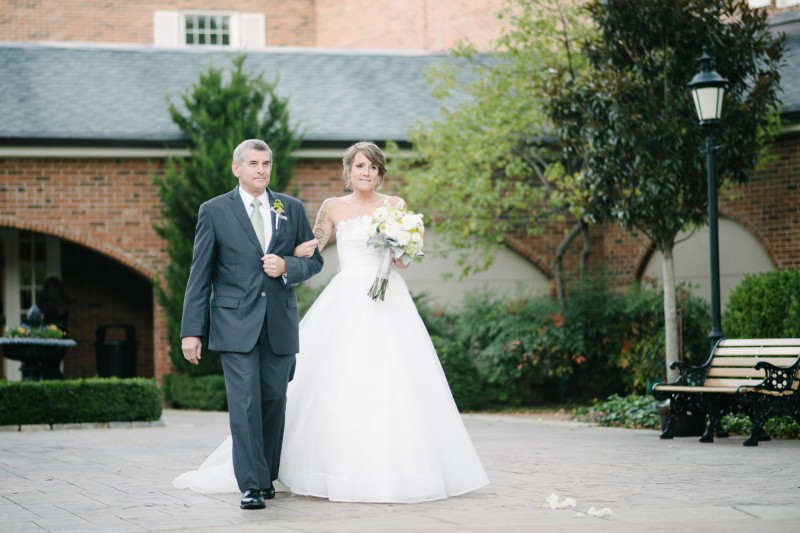 father-walking-daughter-down-aisle1-800x533 Opryland Hotel Wedding in Nashville, TN - Dawn + Keith