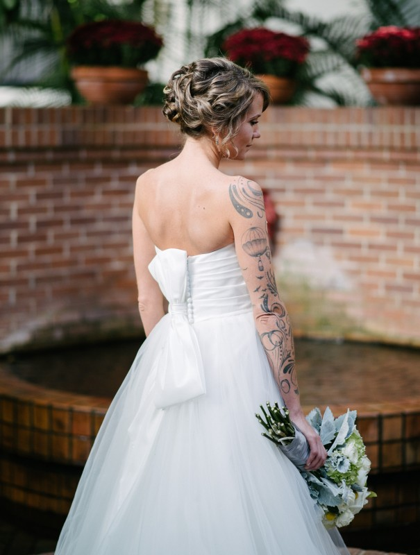 tattooed-bride-portrait1-605x800 Opryland Hotel Wedding in Nashville, TN - Dawn + Keith
