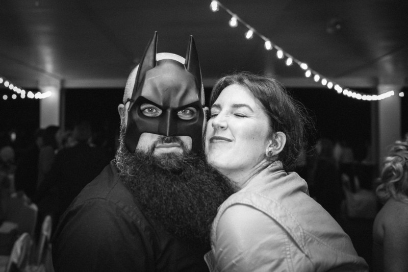 wedding-batman-mask1-800x533 Opryland Hotel Wedding in Nashville, TN - Dawn + Keith
