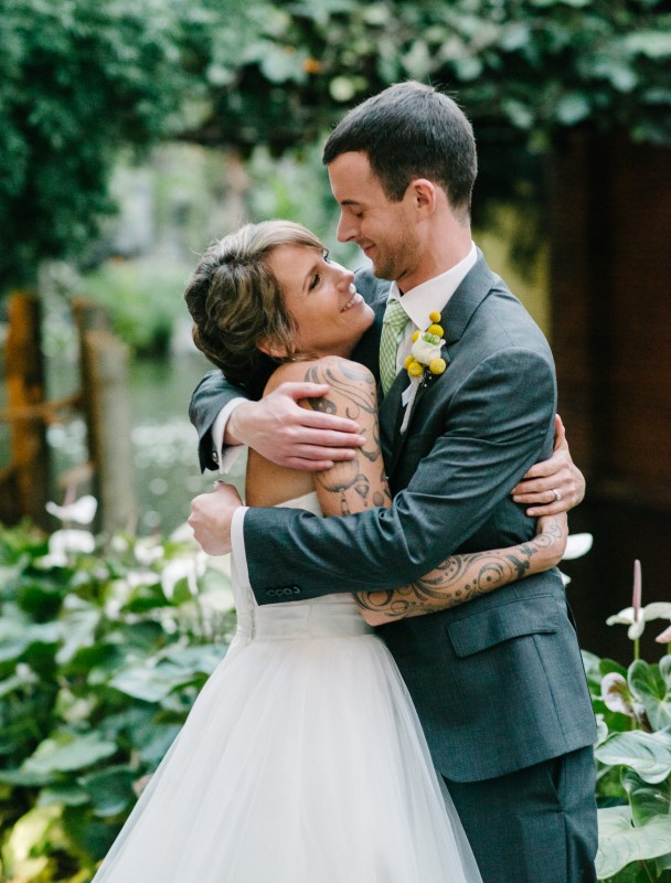 wedding-couple-hugging1-608x800 Opryland Hotel Wedding in Nashville, TN - Dawn + Keith
