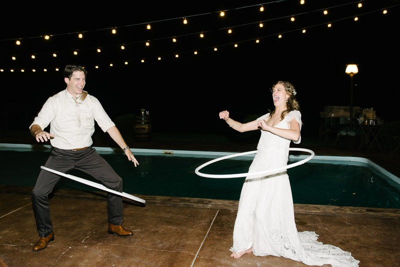 bride-hula-hooping-800x534 Front Porch Farms Wedding - Taylor and William