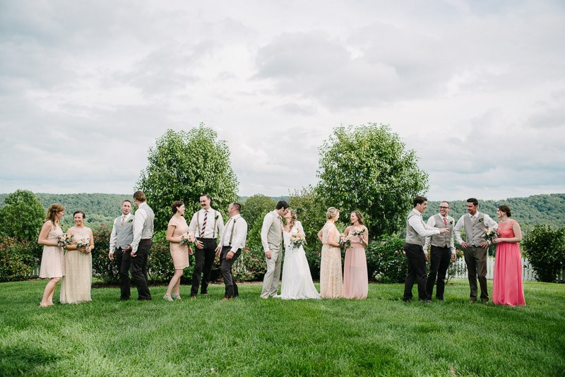 fun-bridal-party-800x534 Front Porch Farms Wedding - Taylor and William