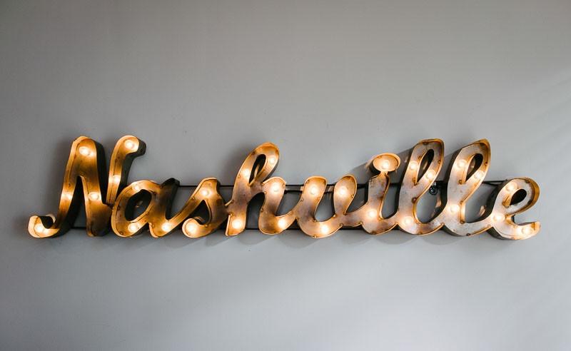 nashville-lights-sign-800x492 Jen + Chris Wedding at The Red House, Franklin, TN