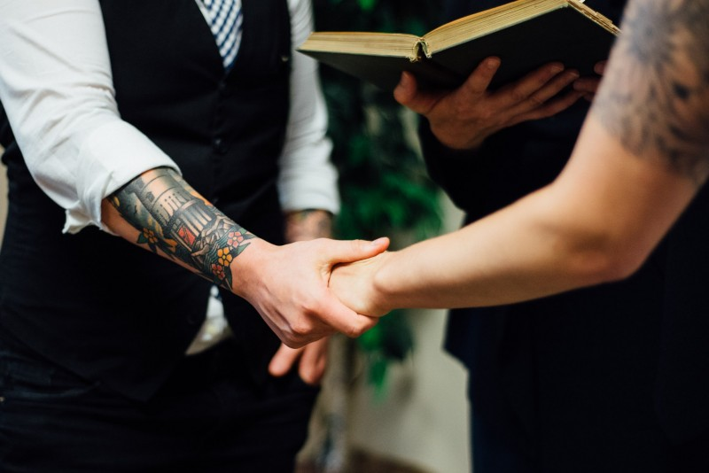 holding-hands-wedding-ceremony-800x534 Alex and Kayla | Love Wins | Tennessee Gay Wedding