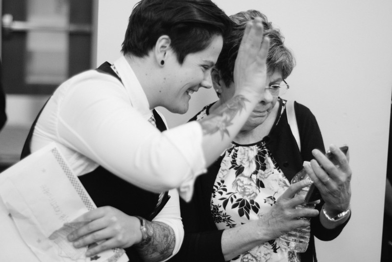 waving-to-phone-800x534 Alex and Kayla | Love Wins | Tennessee Gay Wedding