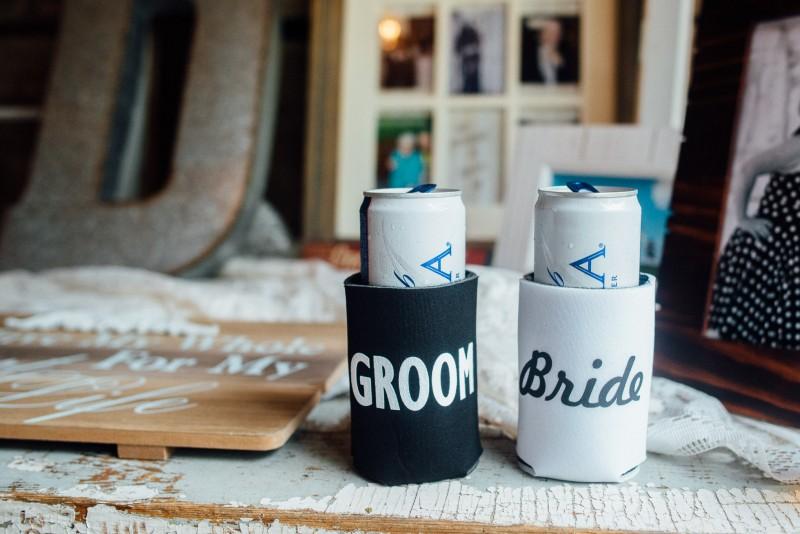 bride-groom-coozies-800x534 Outdoor Barn Wedding | Murfreesoro, TN | Paul and Amanda