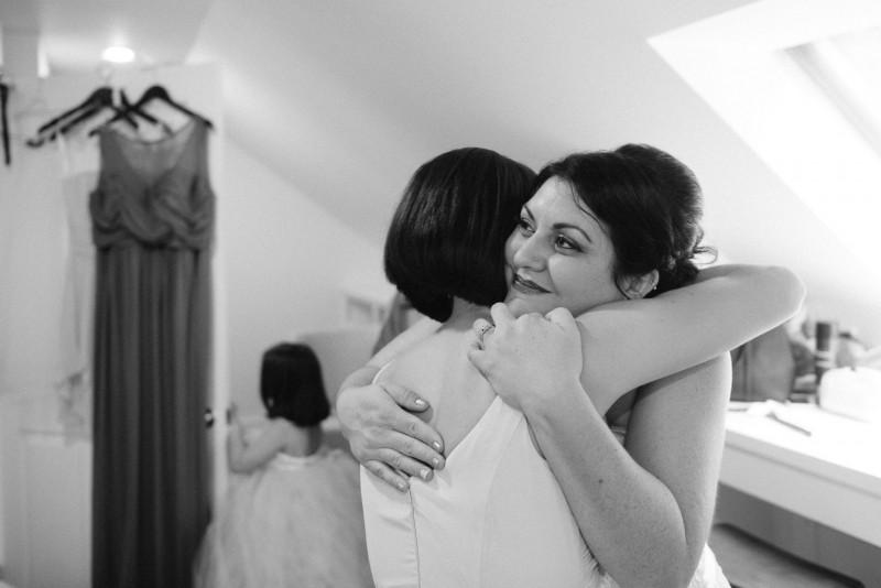 bride-hugging-sister-800x534 Outdoor Barn Wedding | Murfreesoro, TN | Paul and Amanda