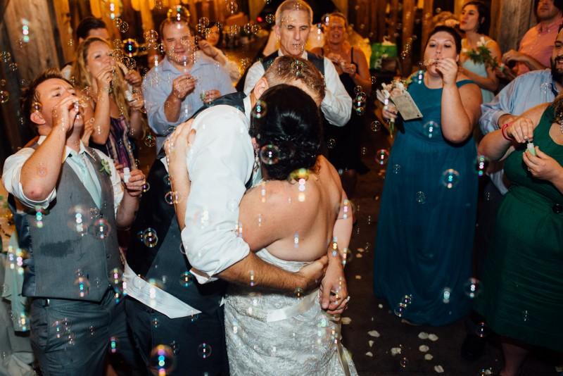 bubble-wedding-exit-800x534 Outdoor Barn Wedding | Murfreesoro, TN | Paul and Amanda